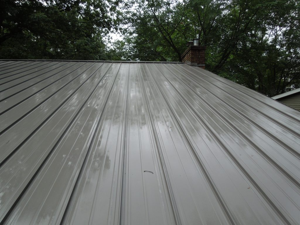 Clean metal roof